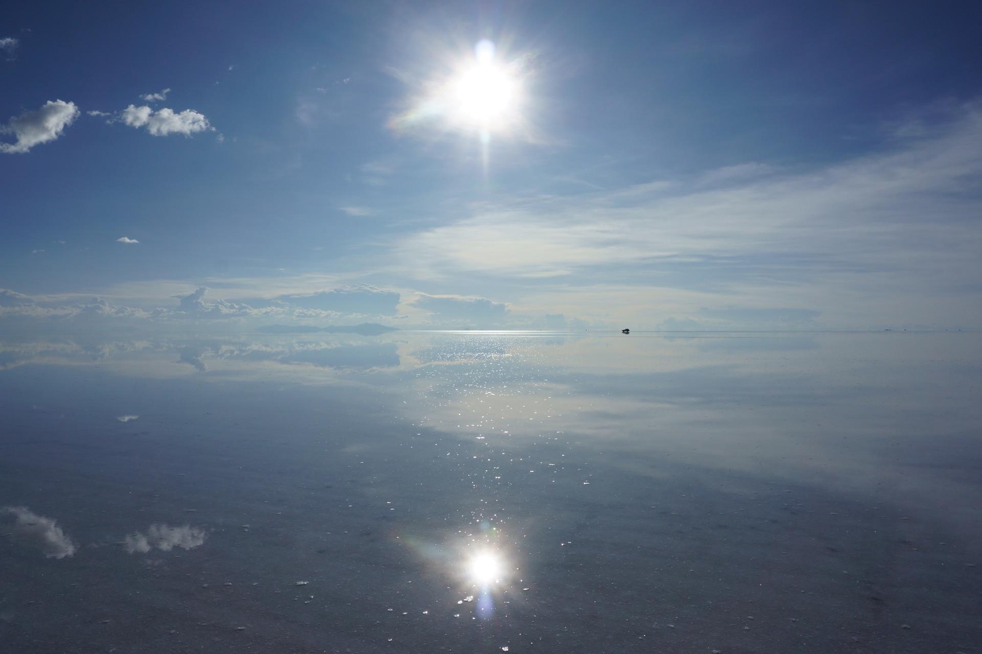 ボリビア ウユニ塩湖 サンセットサンライズ 晴天2