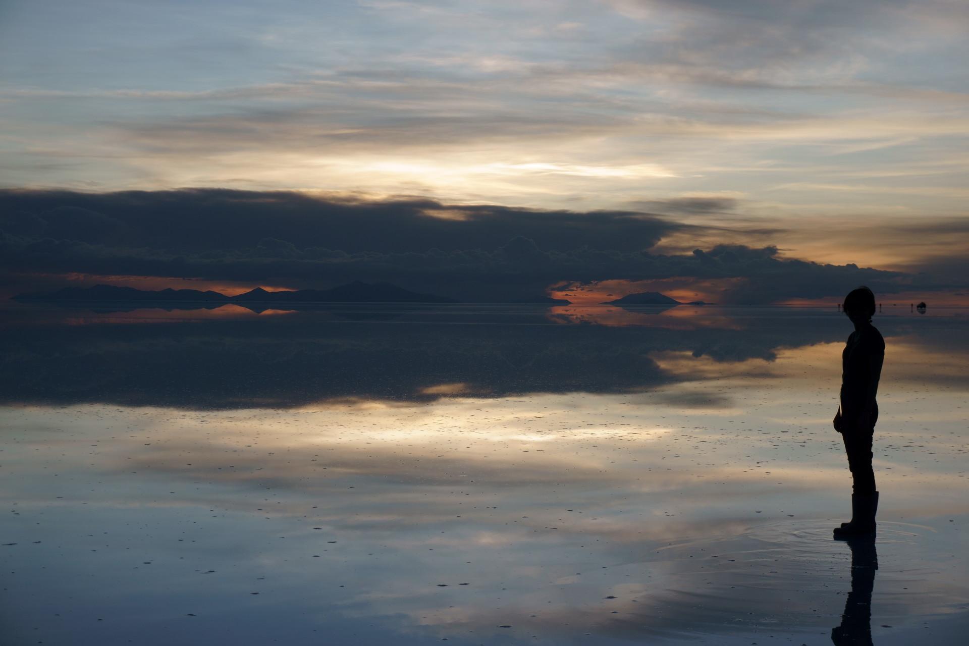 ボリビア ウユニ塩湖 サンセットサンライズ 夕暮れ2