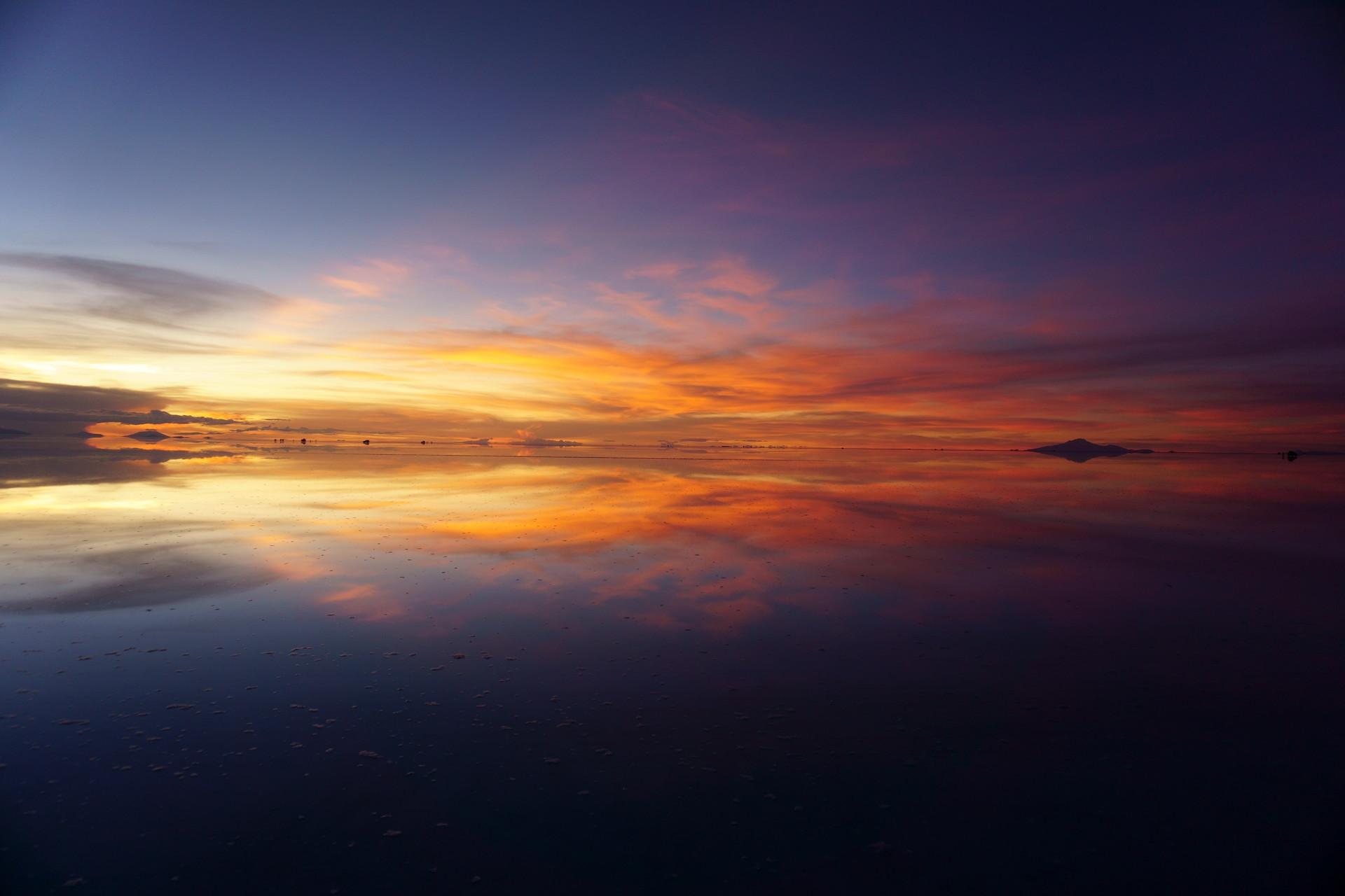ボリビア ウユニ塩湖 サンセットサンライズ サンセット