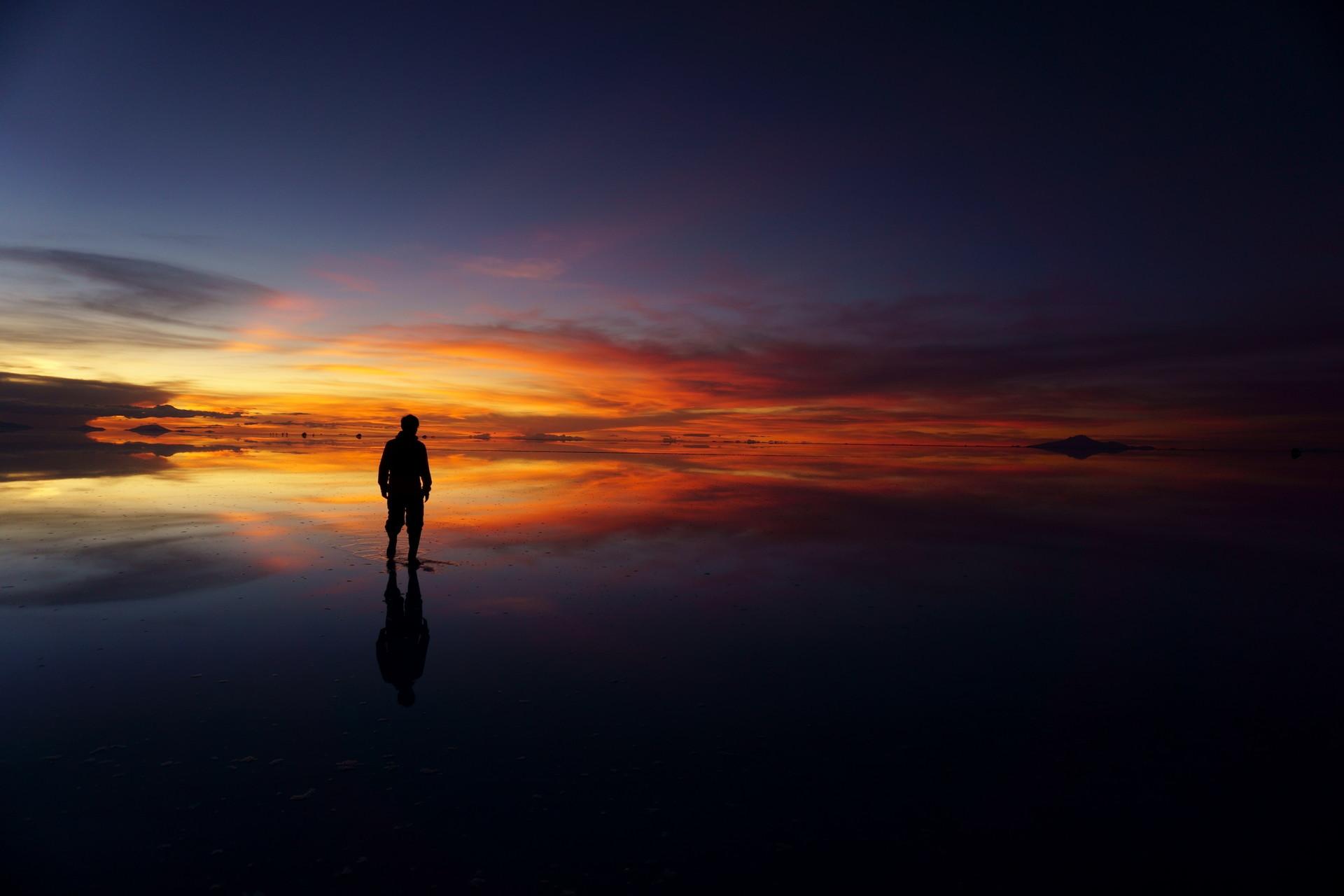 ボリビア ウユニ塩湖 サンセットサンライズ 私