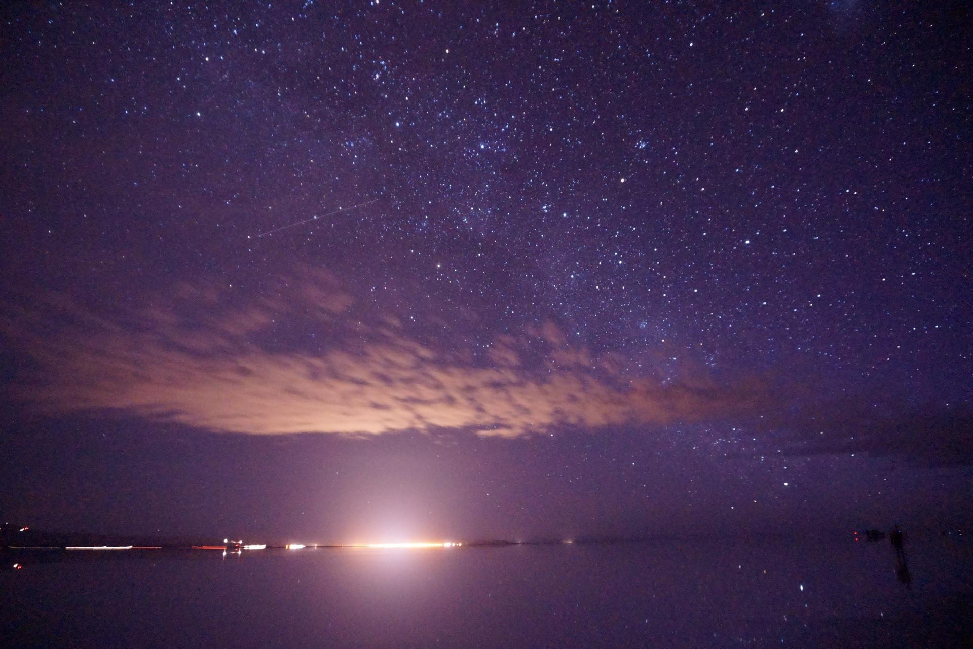 ボリビア ウユニ塩湖 サンセットサンライズ 夜空