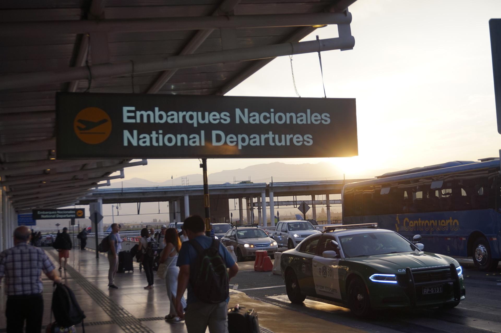 チリ ボリビア ウユニ旅行 サンティアゴ 空港
