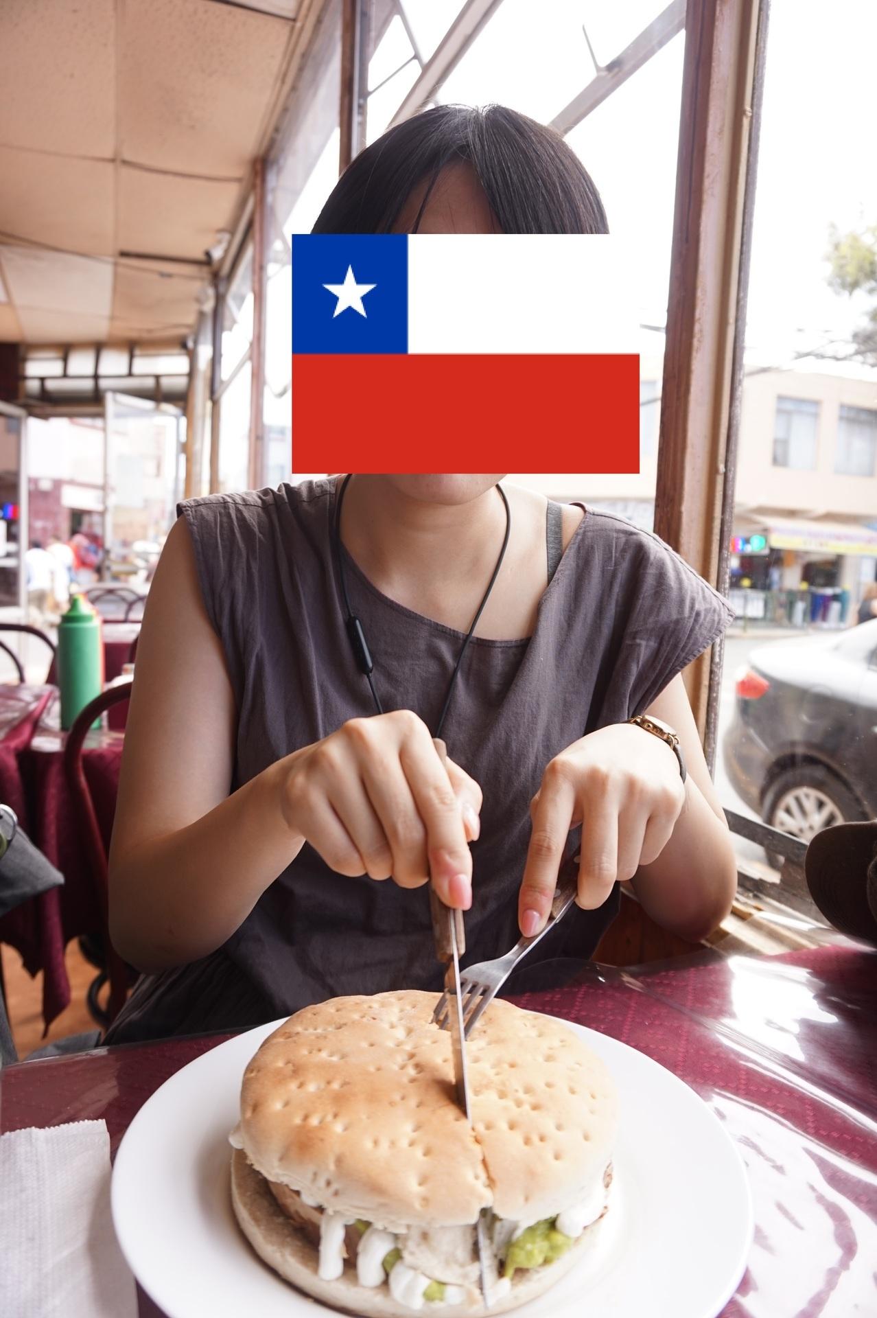チリ ボリビア ウユニ旅行 カラマ ハンバーガー