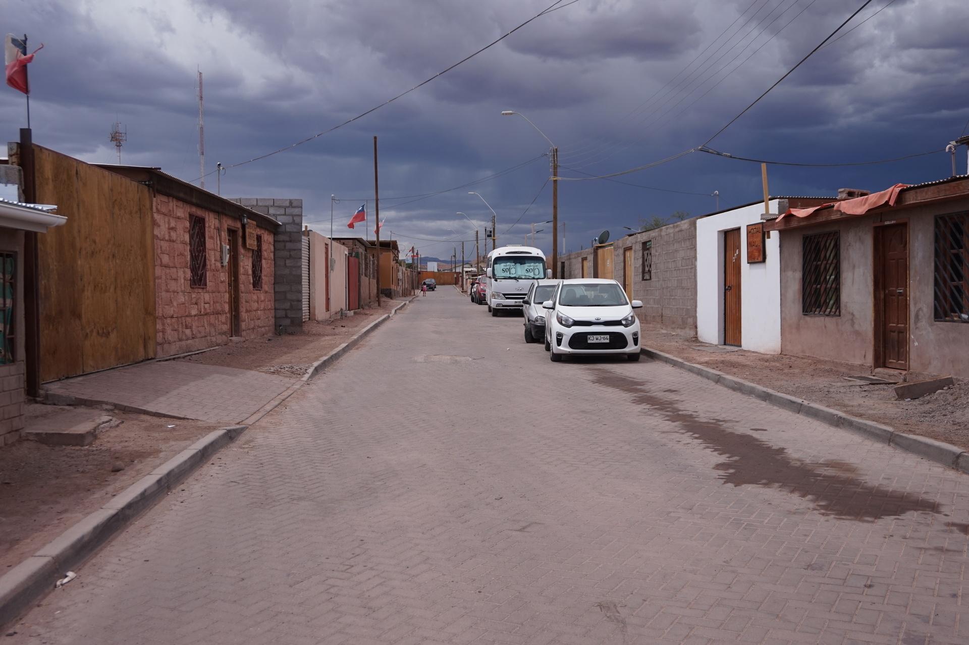 チリ ボリビア ウユニ旅行 アタカマ 町並み