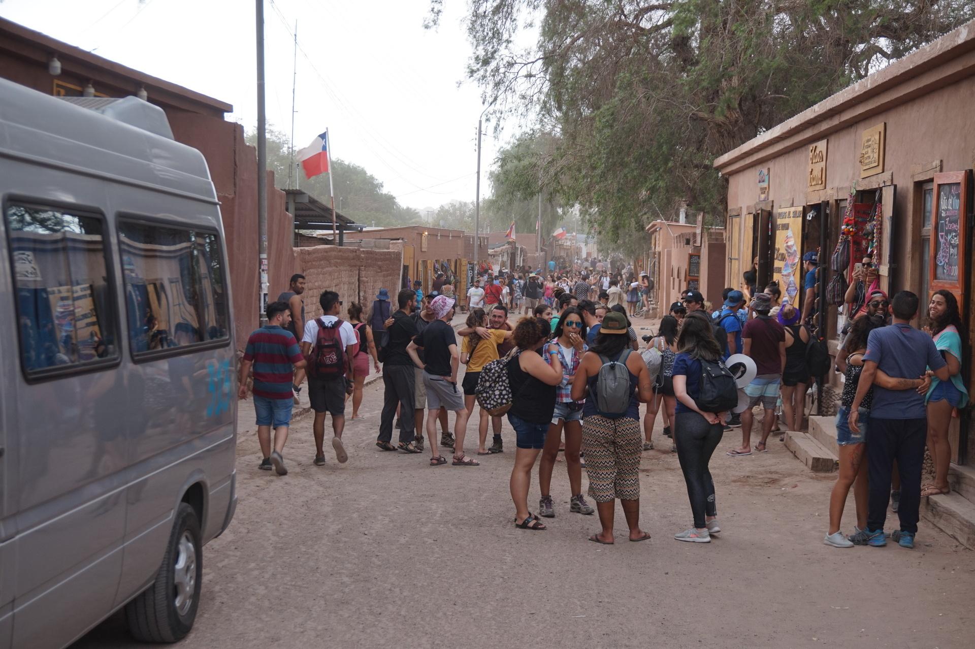 チリ ボリビア ウユニ旅行 アタカマ ツアー会社通り
