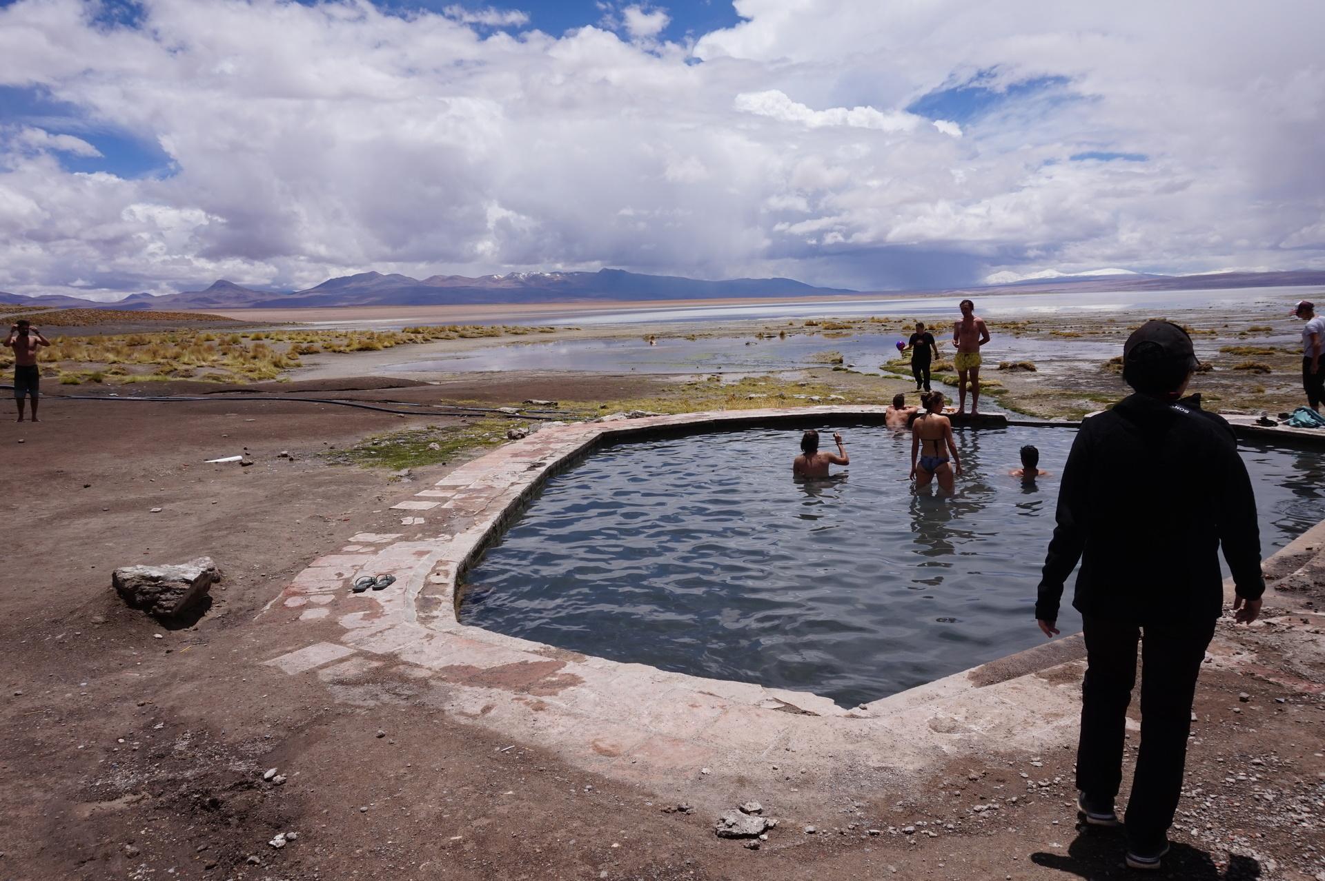 チリ ボリビア ウユニ旅行 2泊3日ツアー 温泉