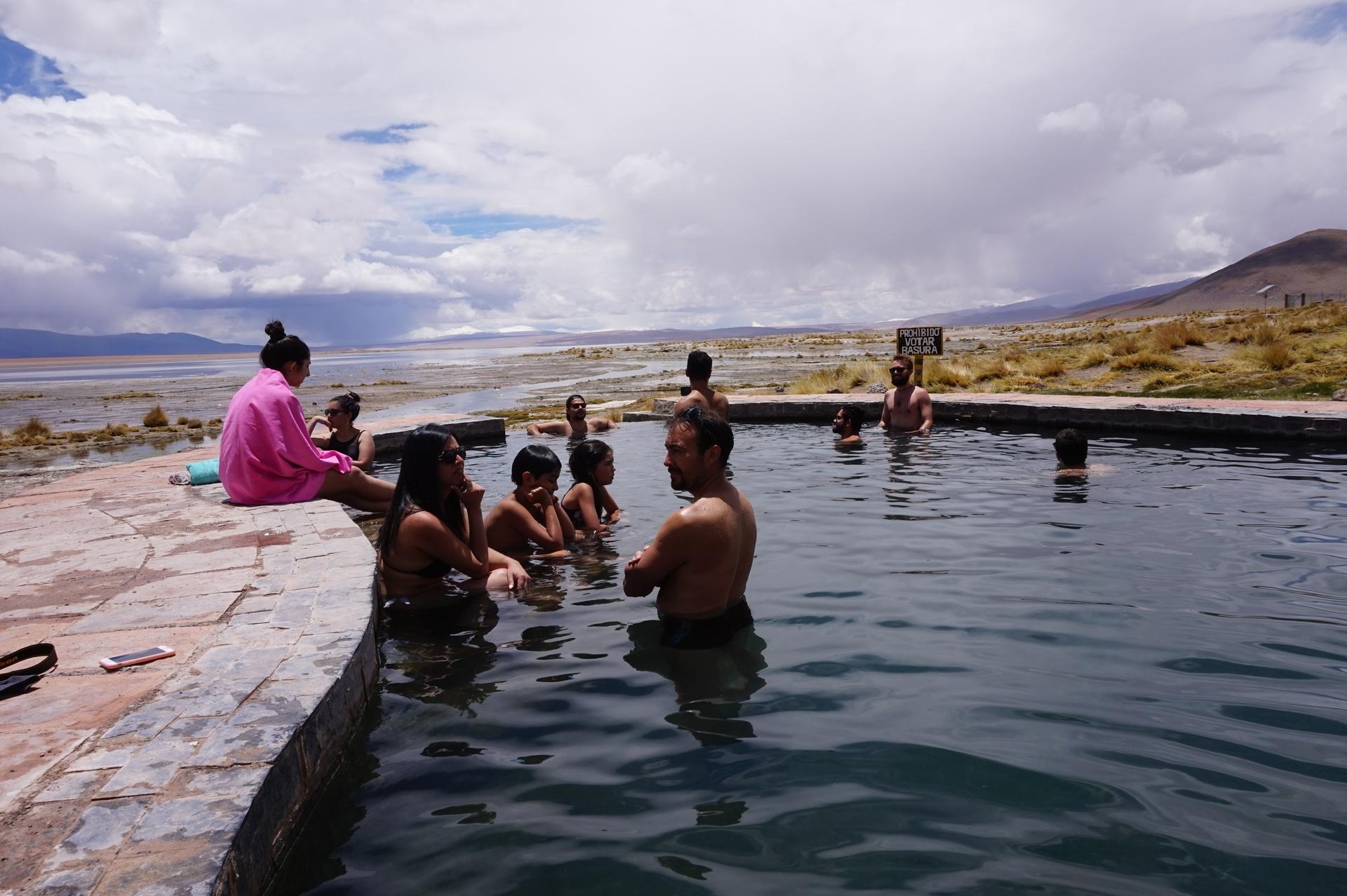 チリ ボリビア ウユニ旅行 2泊3日ツアー 温泉3