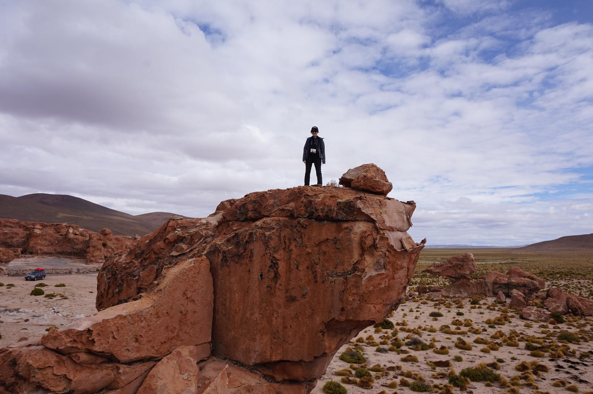 チリ ボリビア ウユニ旅行 2泊3日ツアー 頂上