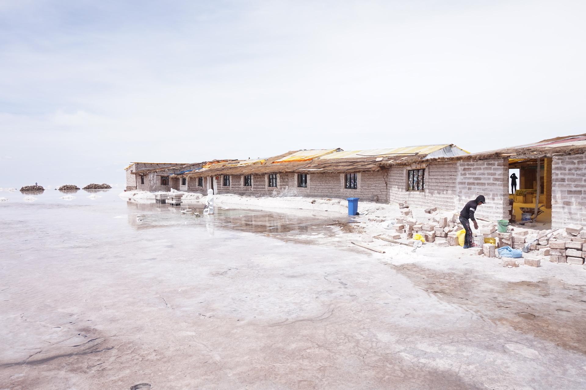 チリ ボリビア ウユニ旅行 2泊3日ツアー 白いビーチ