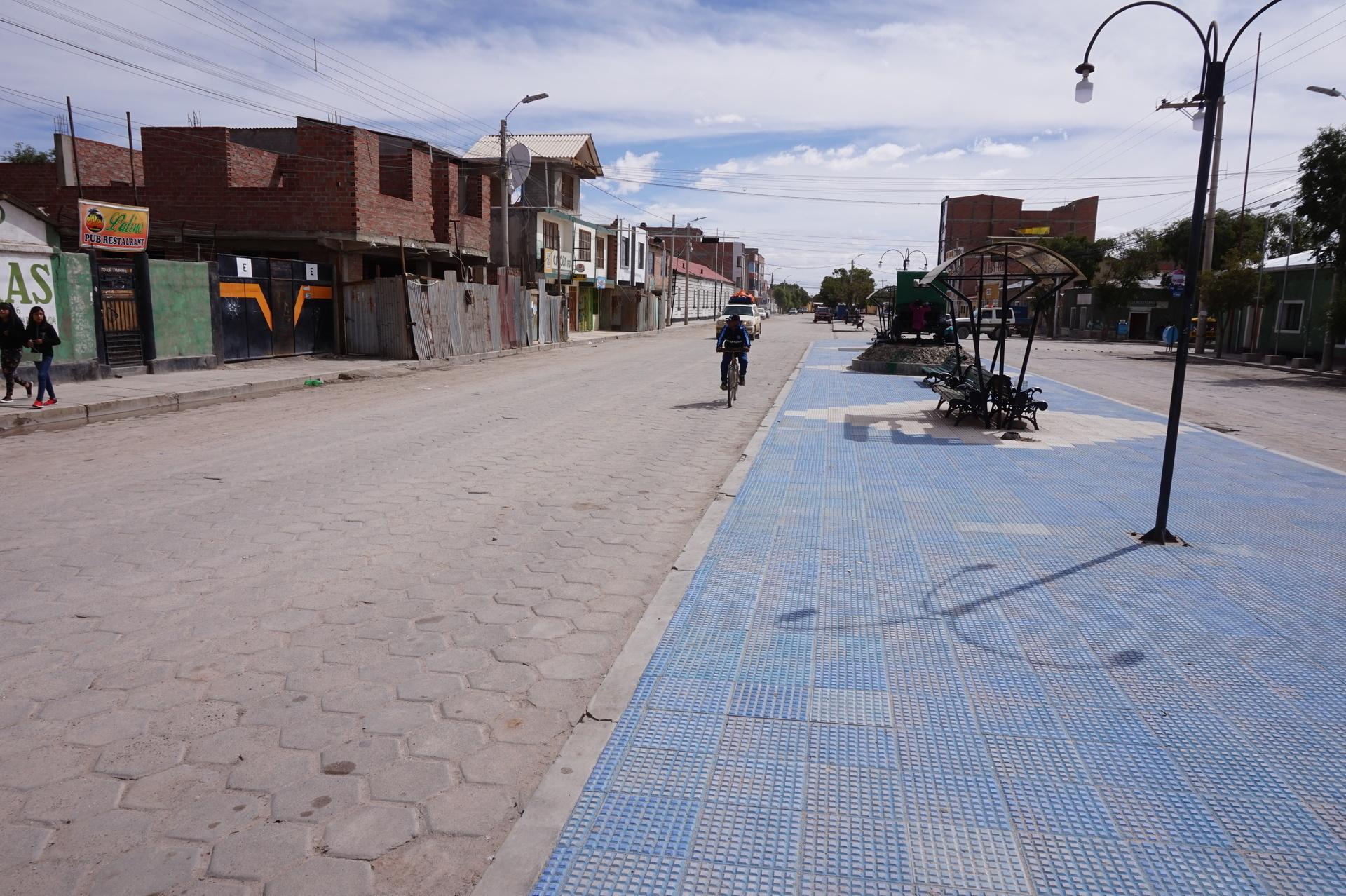 チリ ボリビア 旅行 ウユニ 街歩き 道路