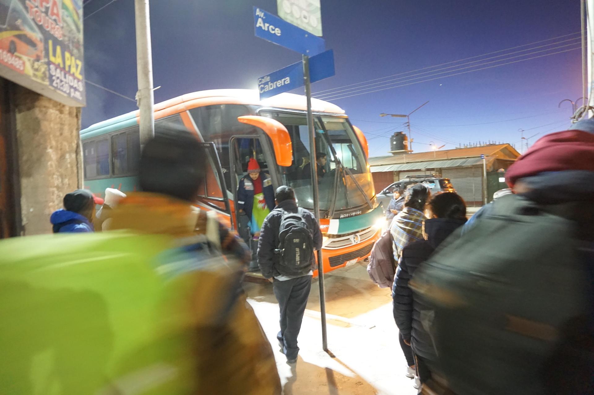 チリ ボリビア 旅行 ウユニ 高速バス