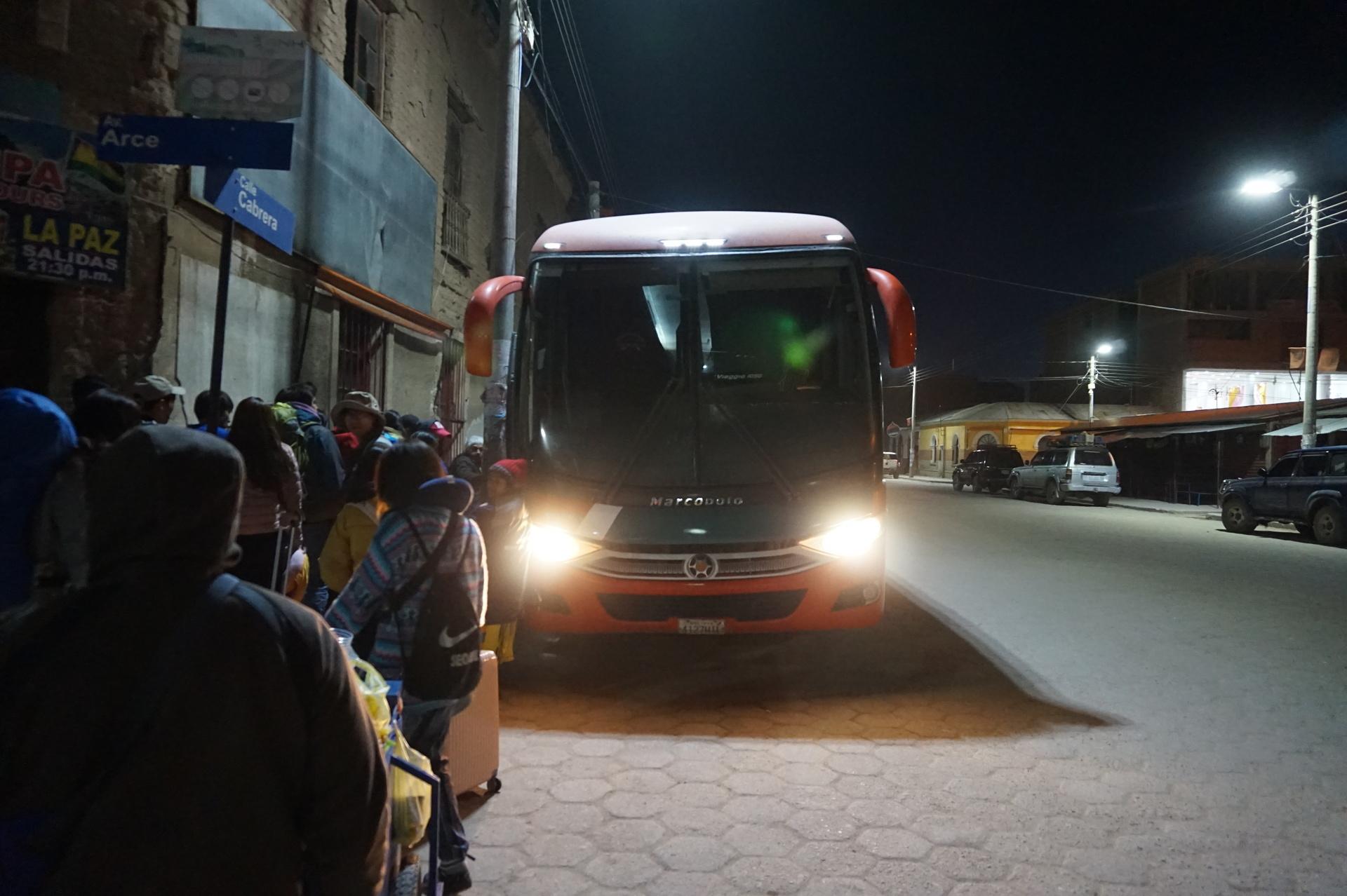 チリ ボリビア 旅行 ウユニ 高速バス2