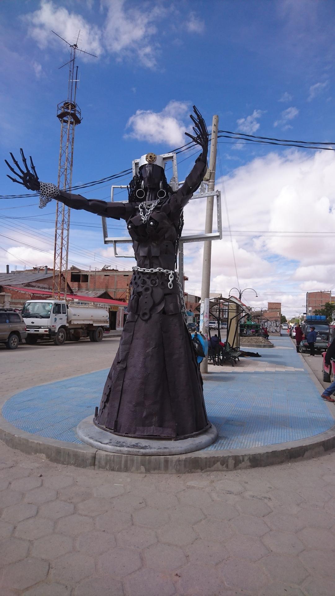チリ ボリビア 旅行 ウユニ 街歩き オブジェA