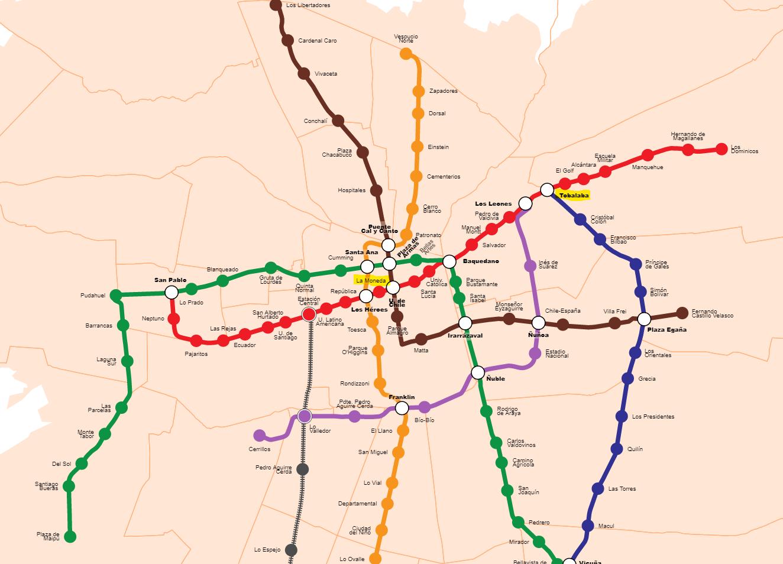 サンティアゴ 地下鉄 マップ.png